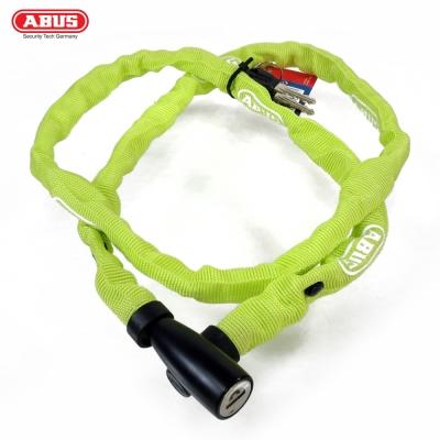 ABUS 德國防盜鎖 1500 web Key Chain 110cm單車鑰匙鎖-螢光綠