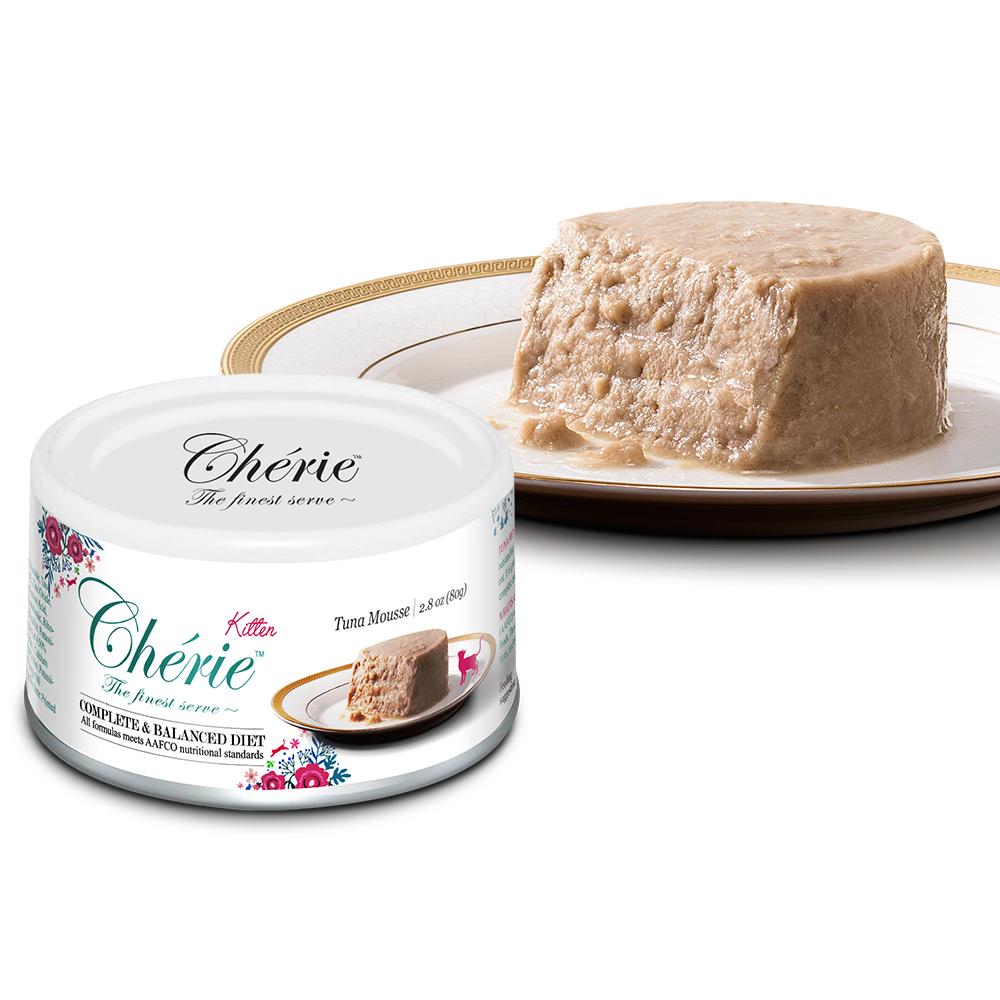 Cherie 法麗貓罐頭 全營養主食罐 天然鮪魚慕斯 80g (24罐/箱)