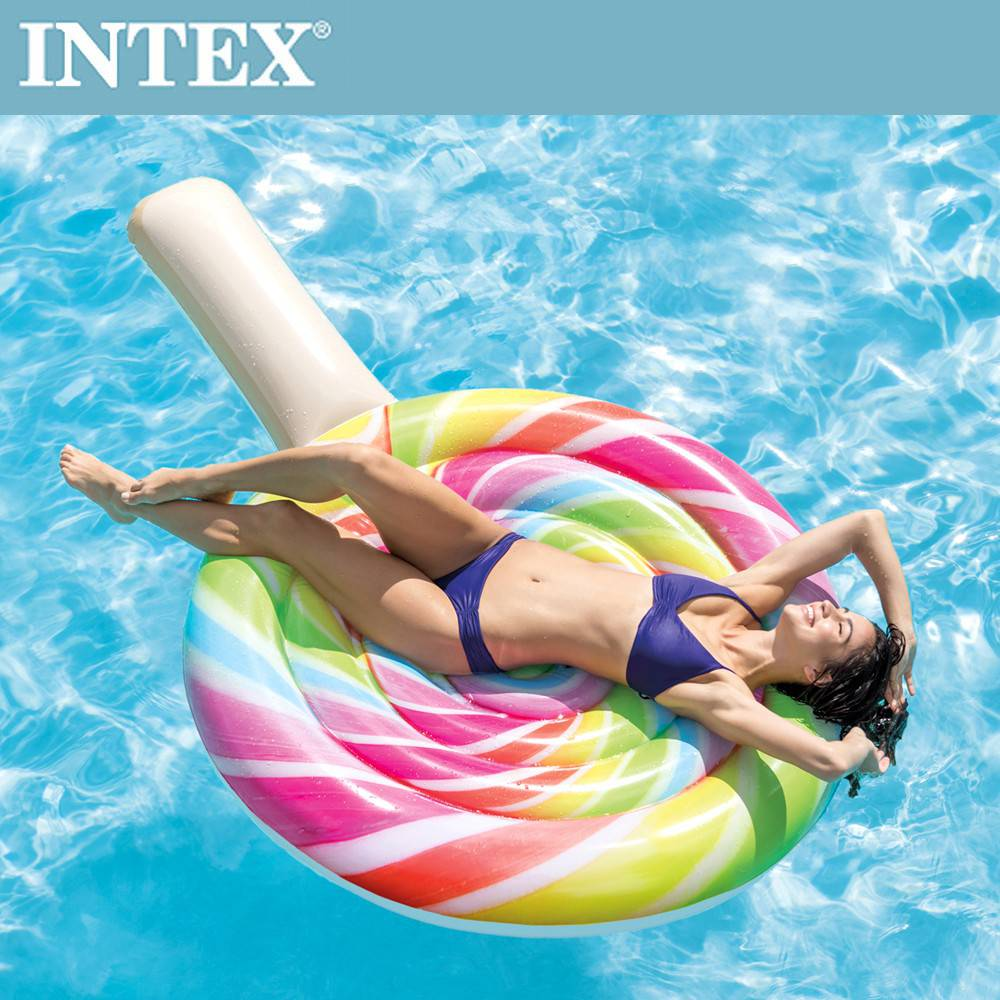 INTEX 棒棒糖女孩浮排(208x135cm)(58753)