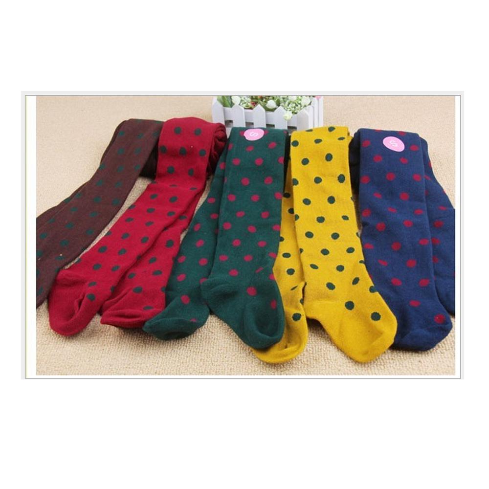 韓版-可愛點點保暖褲襪