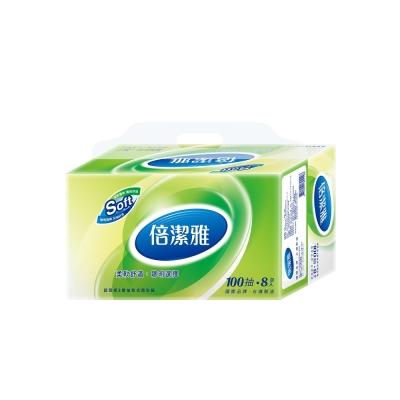 倍潔雅超質感抽取式衛生紙100抽8包10袋x2箱