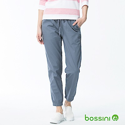 bossini女裝-輕鬆束口長褲01天藍