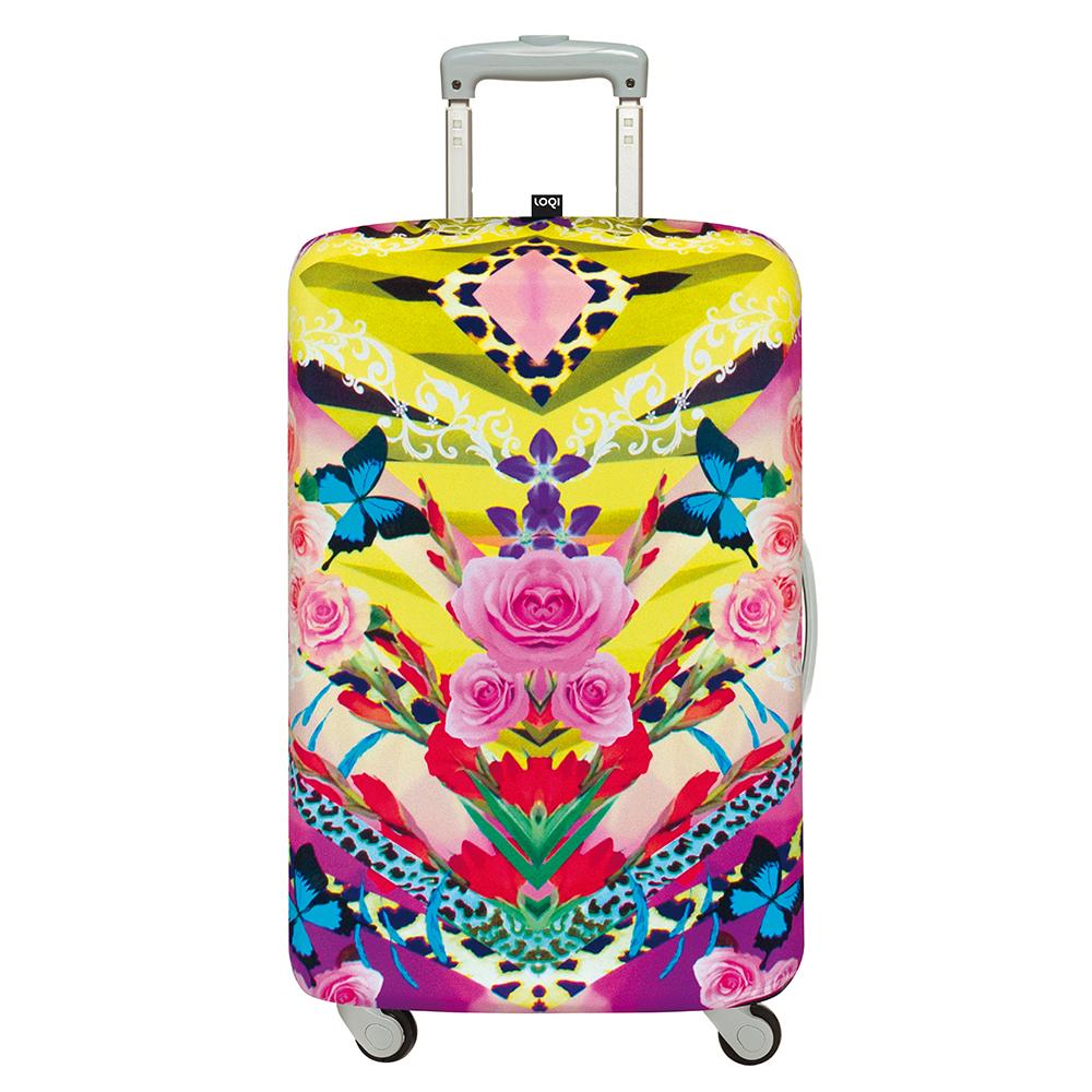 LOQI 行李箱套-夢想花 (L號-適用28吋以上行李箱)