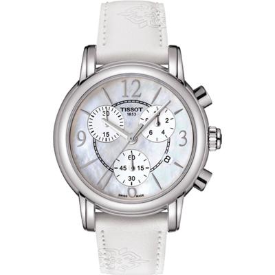 TISSOT DRESSPORT優雅花蕾腕錶(T0502171711700)-白/35mm