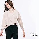 鈕釦V領素面上衣 共二色 TATA-動態show