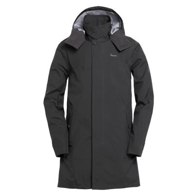 hilltop山頂鳥-男款GoreTex-防水抗UV-長版風衣H21M05黑