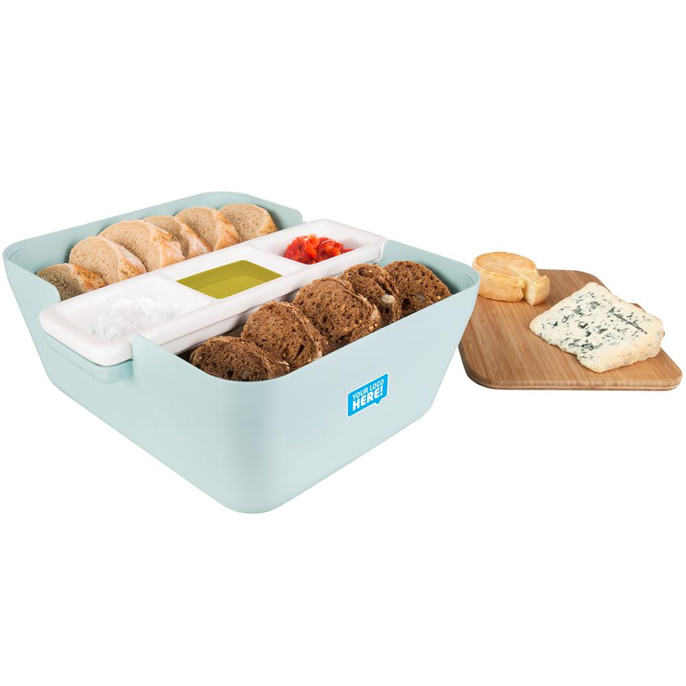 TK 麵包收納盒+醬碟組(淺藍)