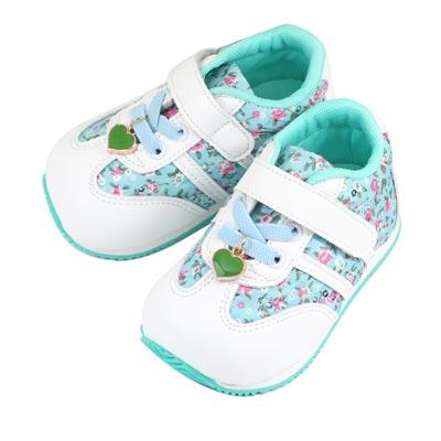 Swan天鵝童鞋-花布愛心吊飾輕量機能鞋 1536-藍
