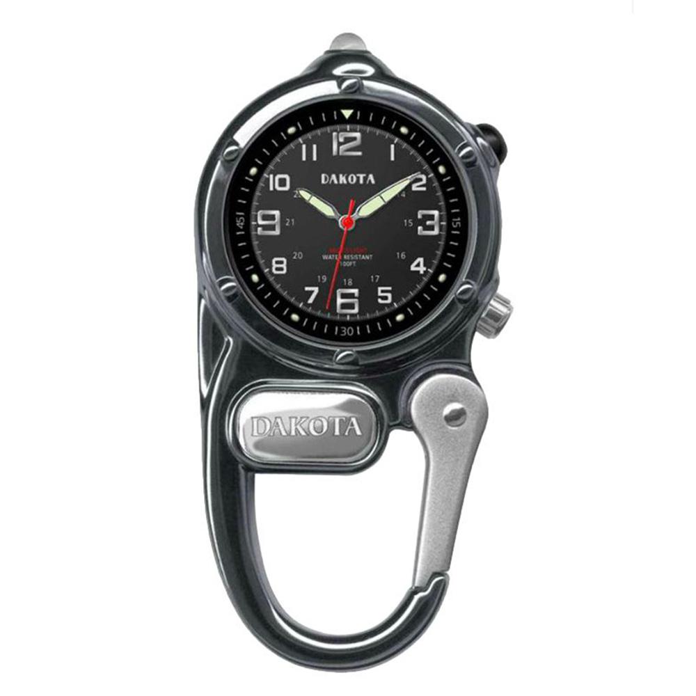 DAKOTA迷你掛勾系列微光觀察黑色錶盤黑色框登山錶掛錶35mm
