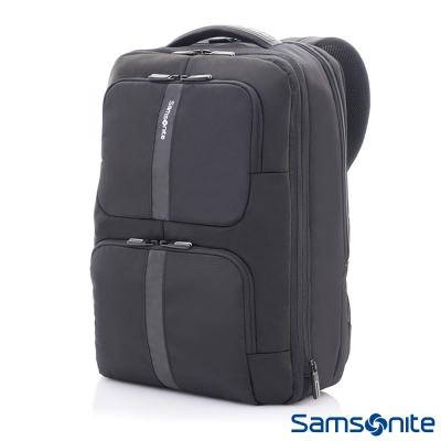 Samsonite新秀麗 Garde經典多功能對開式四段可擴充筆電後背包-15.6吋(黑)