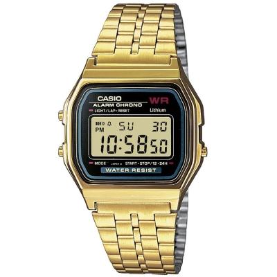 CASIO 城市經典超薄數位錶(A159WGEA-1A)-金色/36.8mm
