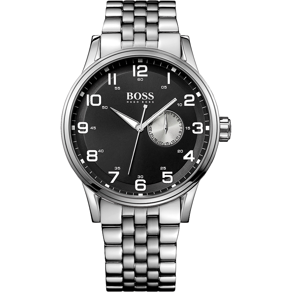 Hugo Boss 古拉爵雅典爵士腕錶-黑x銀/44mm