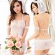 【蘿莉朵】六月新娘‧白紗蕾絲性感睡衣 (白)