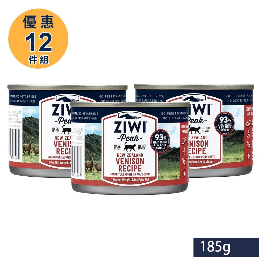 ZiwiPeak巔峰 93%鮮肉貓 鹿肉 185G (一箱12罐)