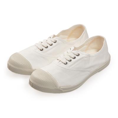 (女)Natural World 西班牙休閒鞋 素面4孔基本款*白色