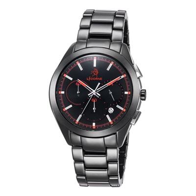 LICORNE 恩萃 Entree  品味時光印刻陶瓷腕錶-紅/43mm