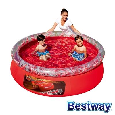 BESTWAY 護環加厚圓型充氣游泳池/戲水池 (閃電麥坤)