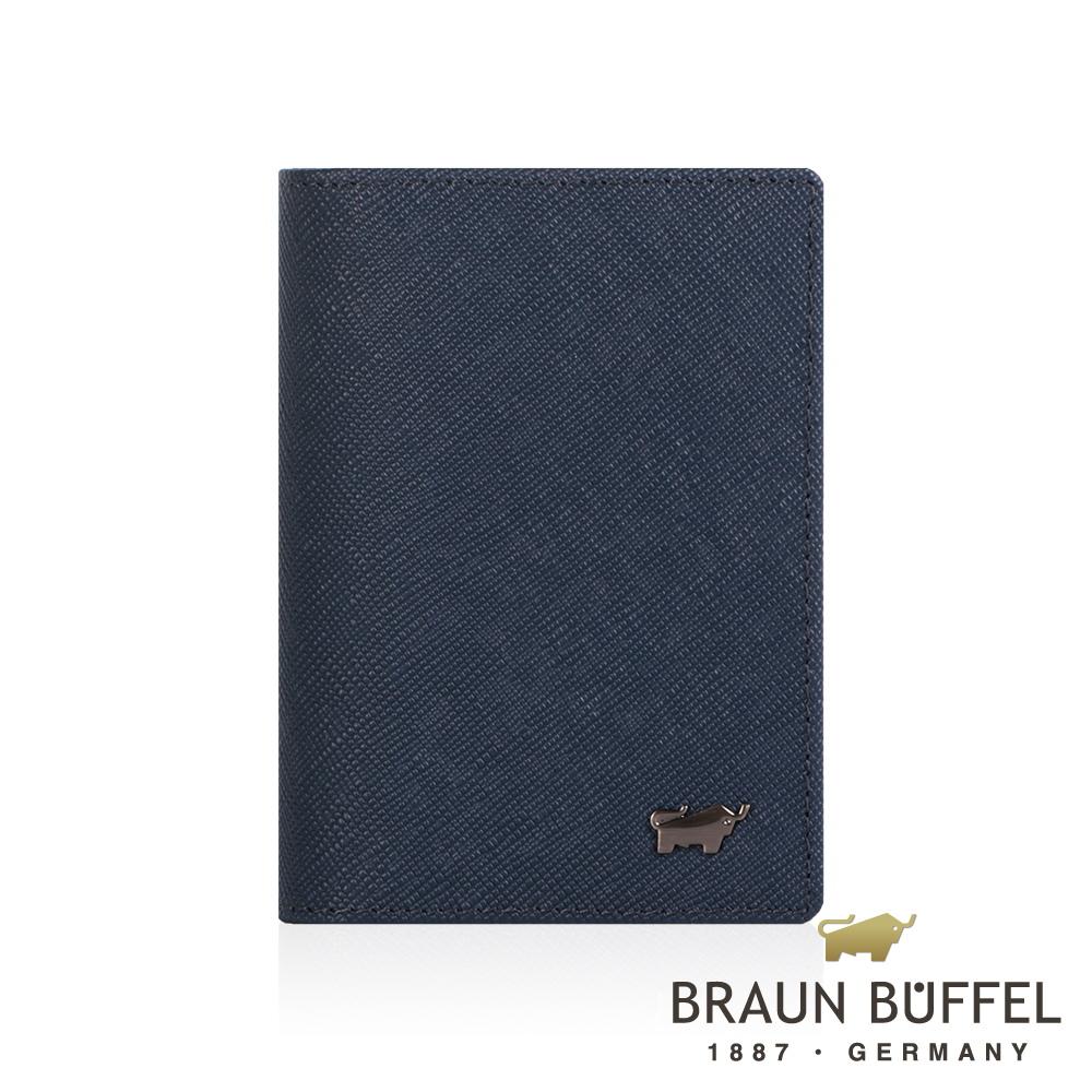 BRAUN BUFFEL 德國小金牛 - RUFINO-C洛非諾III系列4卡名片夾 - 午夜藍