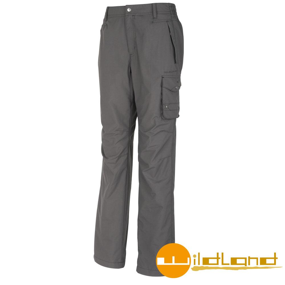 【Wildland 荒野】0A02308 男 防潑水防風保暖長褲 (95鐵灰色)