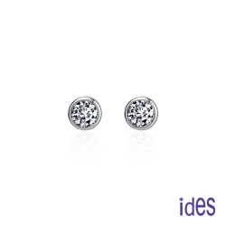 ides愛蒂思 精選20分E/VVS2八心八箭完美車工鑽石耳環/包鑲