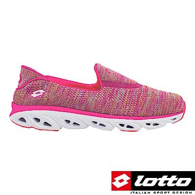 LOTTO 義大利 女  EASY FLOW 健體步行鞋 (玫紅)
