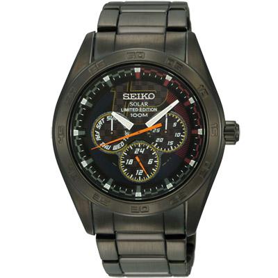SEIKO criteria 日系魅力限量時尚腕錶(SNE203P1)-黑/42mm
