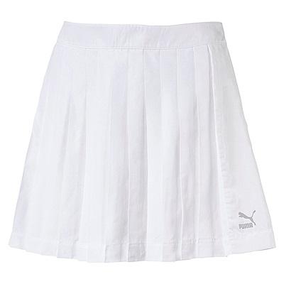 PUMA-女性流行系列Archive T7打摺短裙-白色-亞規