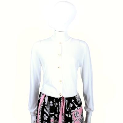 MOSCHINO 白色珍珠釦棉質小外套