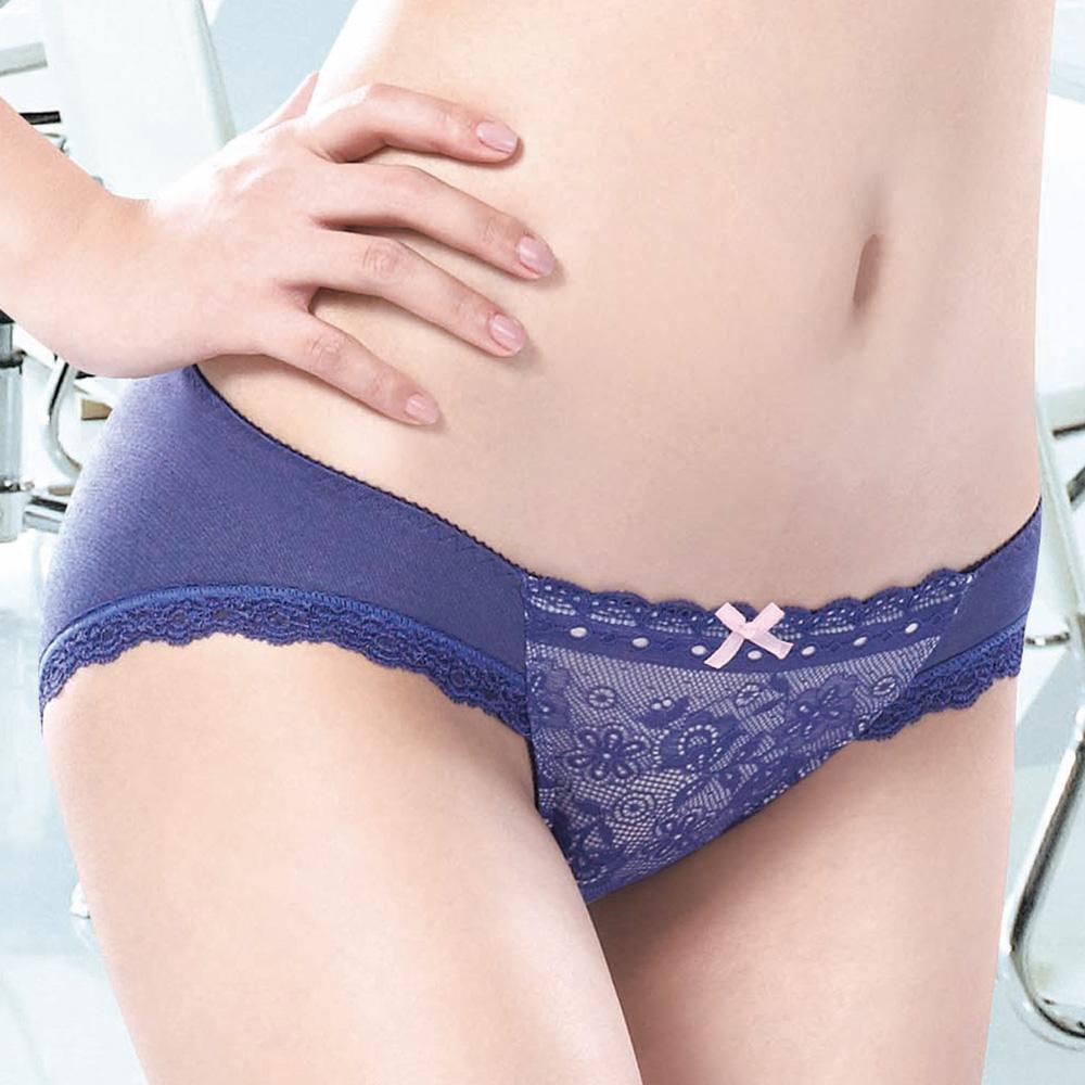 莎薇 魔力推推摩力釦M-LL低腰三角褲(電波藍)