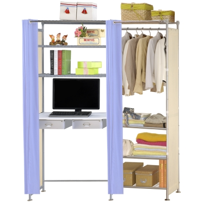 巴塞隆納-W4型60公分+E90公分電腦桌衣櫥架