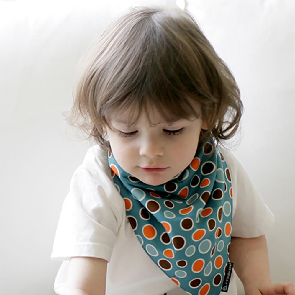 Kinderspel 繽紛時尚‧有機棉圍兜領巾 (英倫藍格爾)