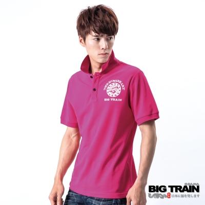 BIG TRAIN-龍騰POLO衫-桃紅
