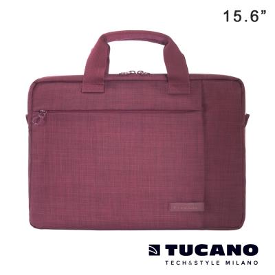 TUCANO-SVOLTA-15-6吋都會風尚手提側背包-酒紅
