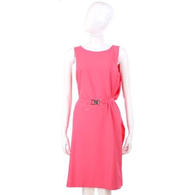 MARELLA 亮粉色無袖洋裝(附腰帶)
