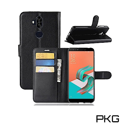 PKG ASUS Zenfone 5 Q  側翻式皮套-經典系列-黑