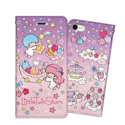 三麗鷗 KIKILALA iPhone 8/iPhone 7 甜心彩繪磁扣皮套(...