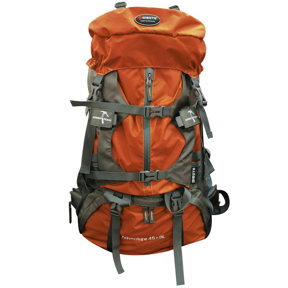 迪伯特 人體功學45+5L登山背包(橘)