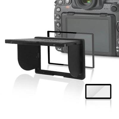 LARMOR V金屬邊框防爆鋼化玻璃相機保護貼-Nikon D600/D610專用