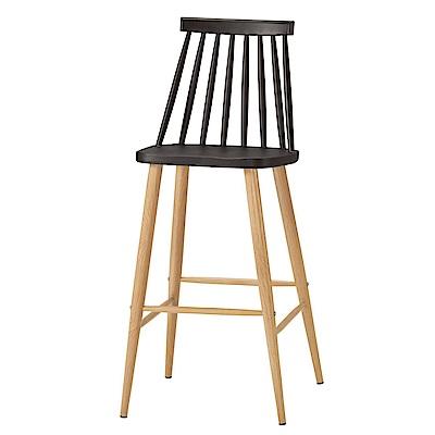 品家居 莎莉柏造型吧台椅2入組合(四色可選)-47x48x97cm免組