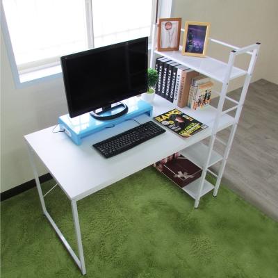 Amos-樂活雙向層架式多功能大桌面工作桌/書桌W120*D64*H122 CM