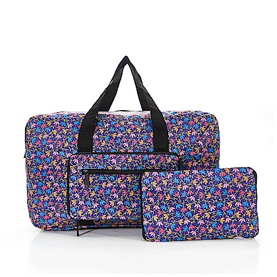 英國ECO CHIC折疊時尚旅行袋-花漾-紫色
