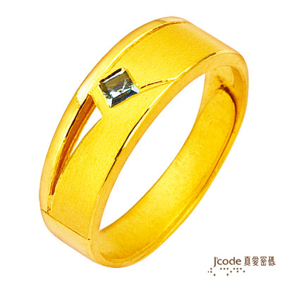 J'code真愛密碼-黃金海岸  純金戒指(男)