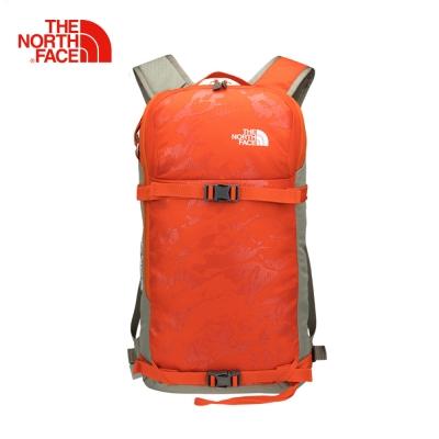 The North Face北面男女款橘色舒適防護戶外雙肩後背包