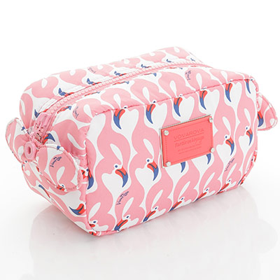 VOVAROVA空氣包-裝不滿化妝包-粉粉紅鶴