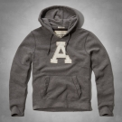 AF a&f Abercrombie & Fitch 長袖 連帽T 灰色 280