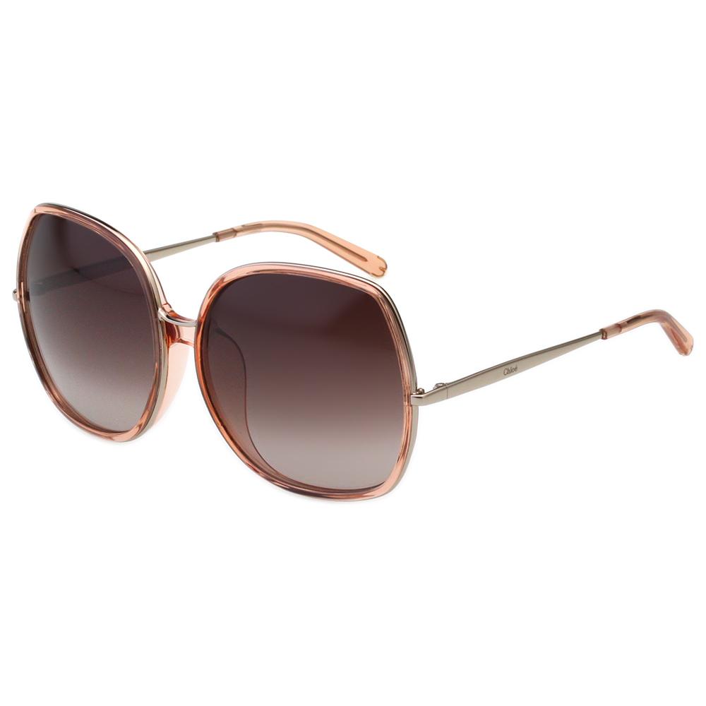 CHLOE 個性方框 太陽眼鏡 -透明粉 CE729SA