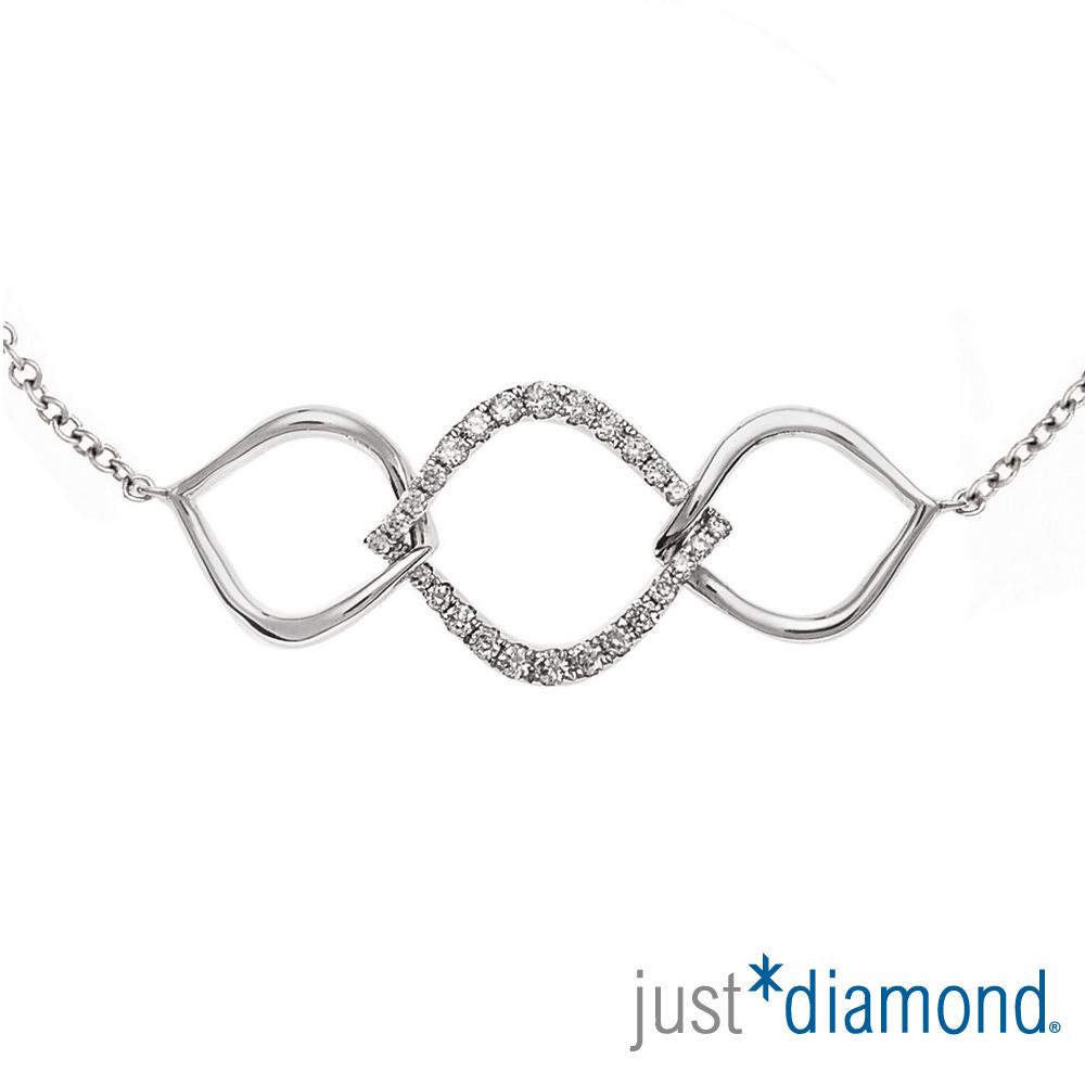 Just Diamond 18K金鑽石手鍊-Wish