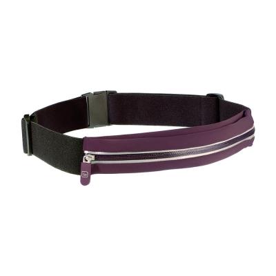 Go Travel 貼身彈性腰包-紫+黑