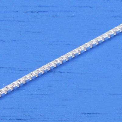 維克維娜 24吋純銀細方鎖鍊。義大利925純銀單鍊