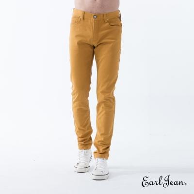Earl Jean 倒E輕磨毛窄管休閒褲-鵝黃-男